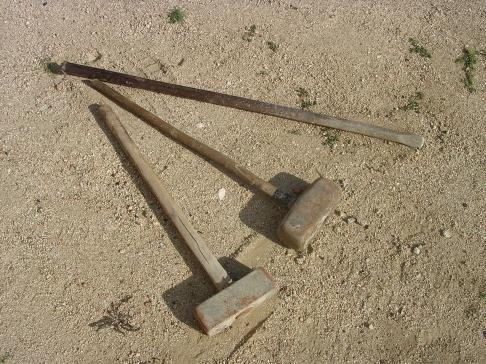 Metal dientes hierro martillo